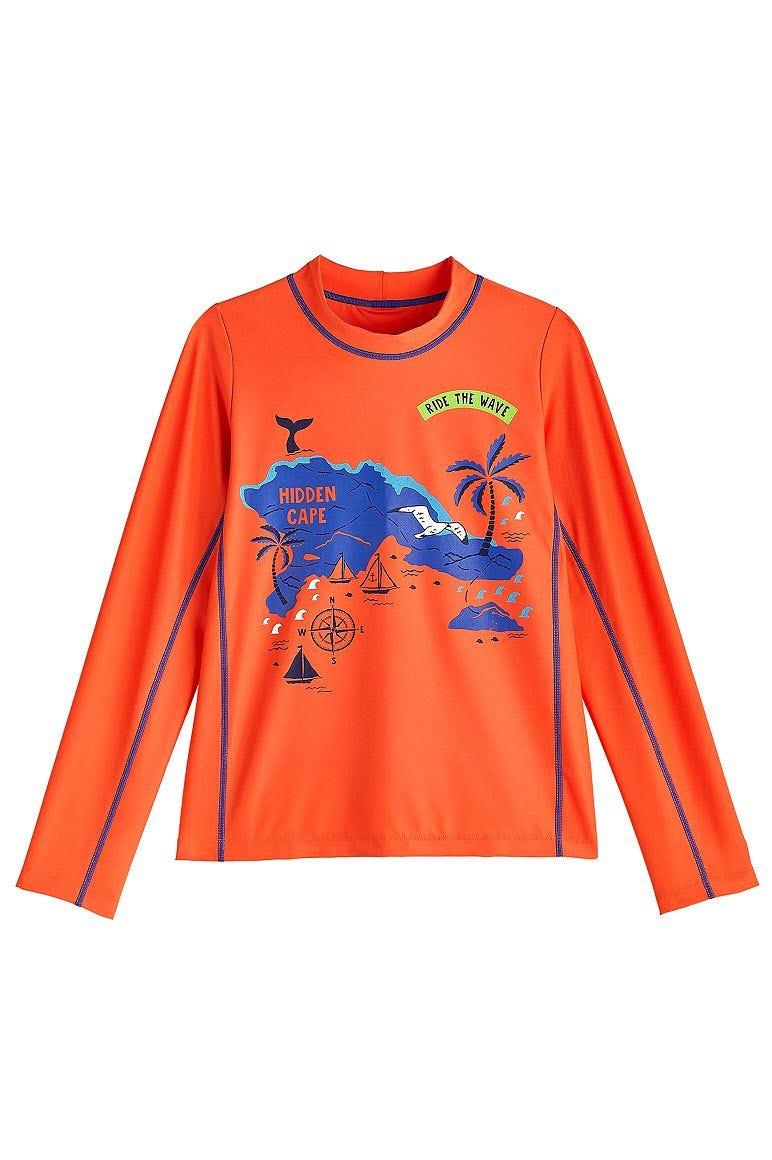 Boy's Sandshark Long Sleeve Surf Shirt UPF 50+
