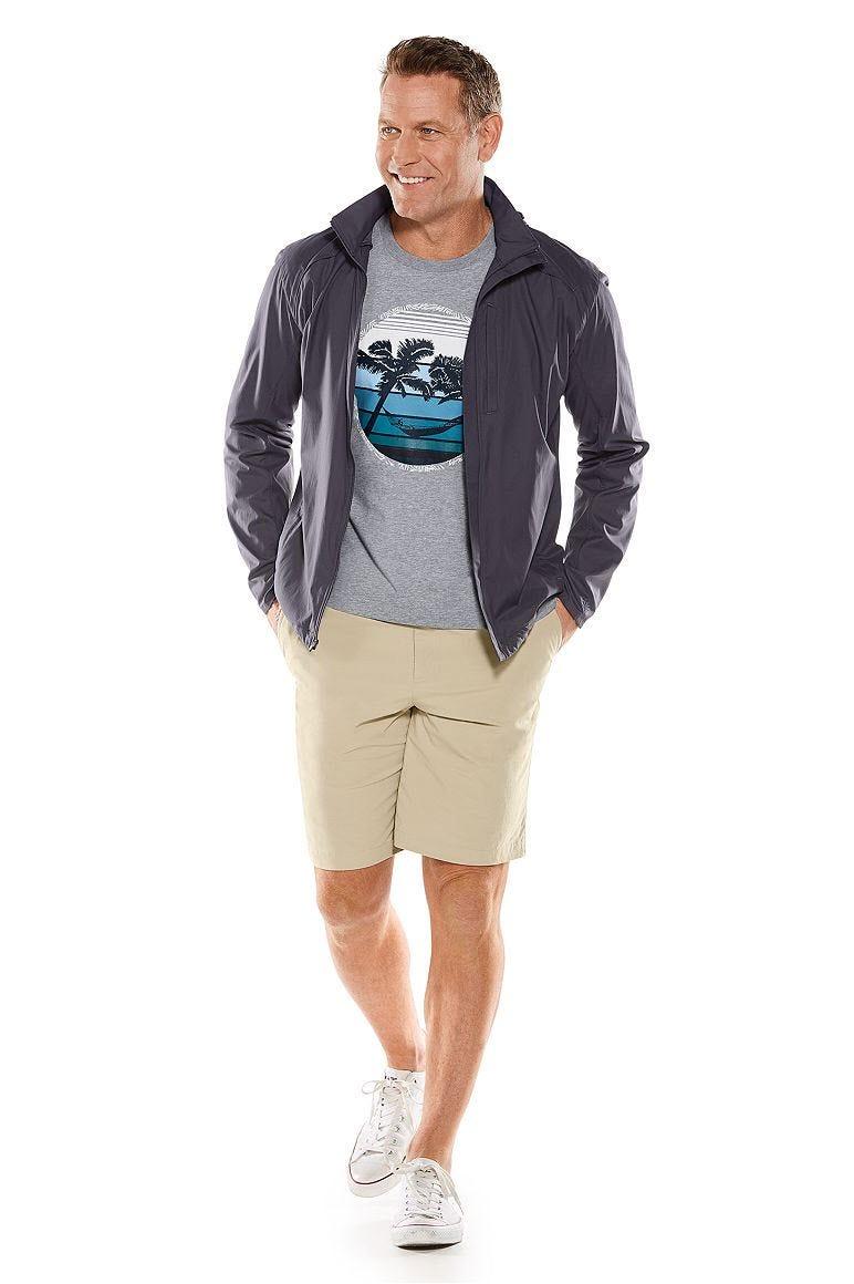 Verdon Packable Jacket & Trek Hybrid Shorts Outfit