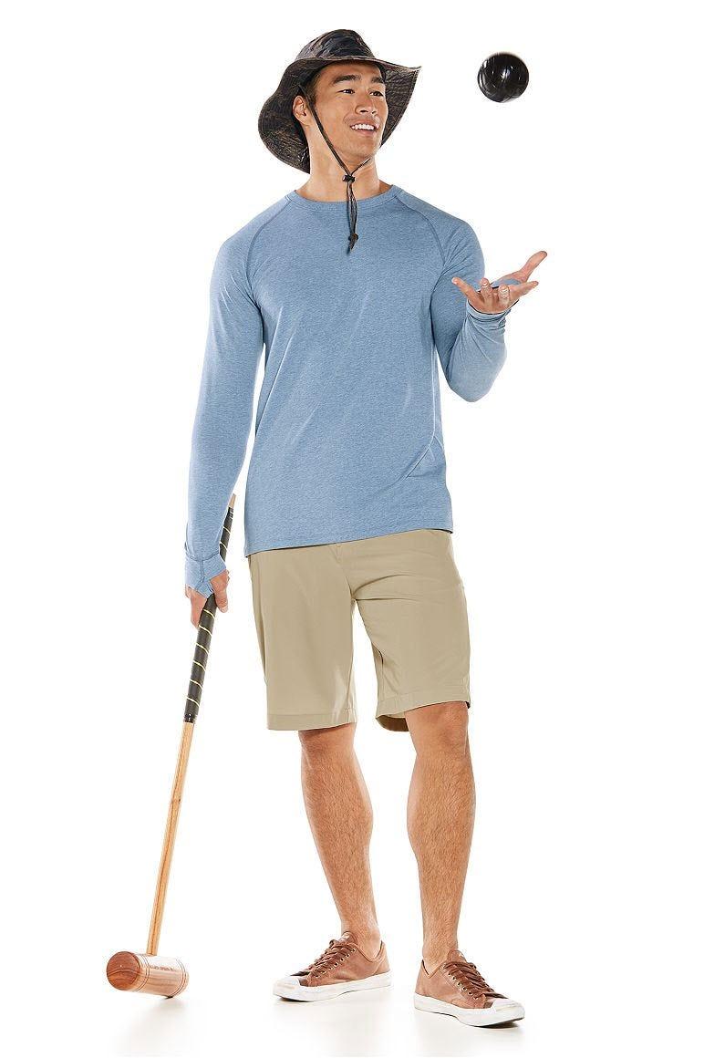 LumaLeo Long Sleeve Tee & Hybrid Shorts Outfit