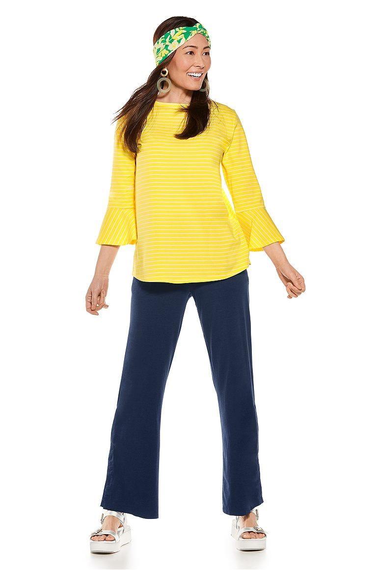 Iris Ruffle Sleeve Top & Beach Pants Outfit