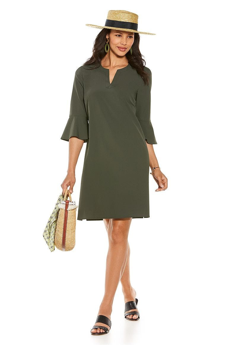 Isabella Sun Hat & Cannes Tunic Dress Outfit