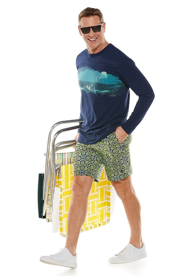 Everyday Graphic Tee & Island Swim Trunks Outfit