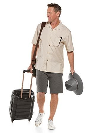 Crushable Ventilated Hat & Safari Camp Shirt Outfit