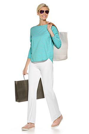 Heyday Side Split Shirt & Beach Pant Outfit