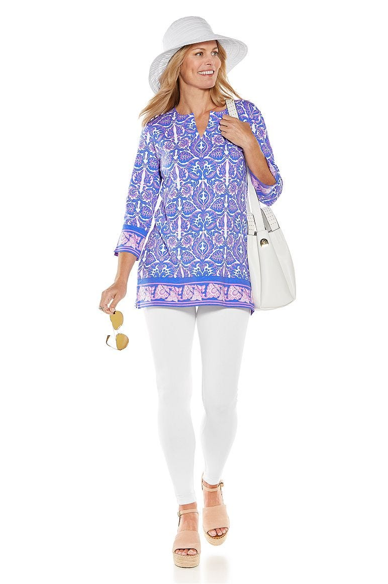 St. Lucia Tunic Top & Monterey Summer Leggings Outfit