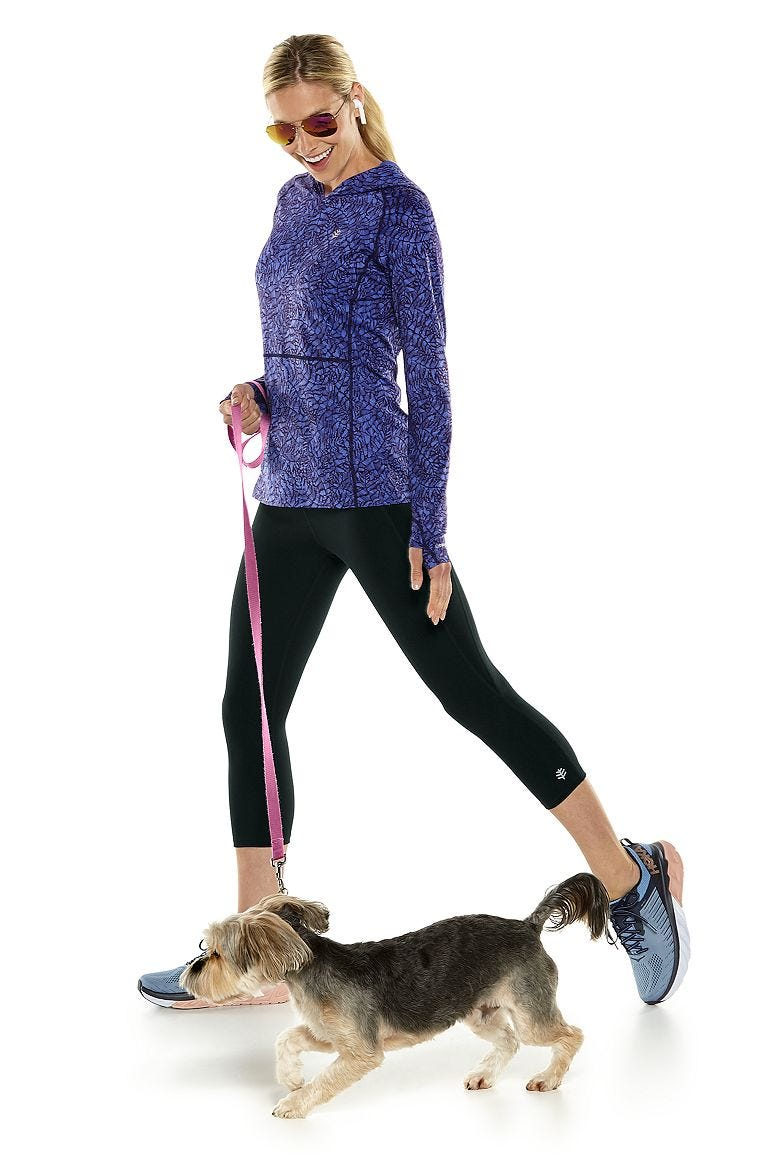 Tempo Hoodie & High-Rise Asana Yoga Capris Outfit
