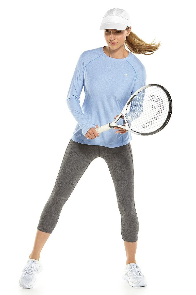 Devi Long Sleeve Fitness T-Shirt & High-Rise Asana Yoga Capris Outfit
