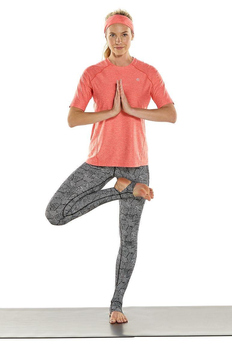 Devi Short Sleeve Fitness T-Shirt & High-Rise Asana Yoga Stirrup Leggings Outfit