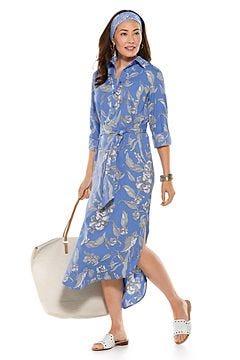 Prado Shirt Dress & Grassi Sun Bandana Outfit