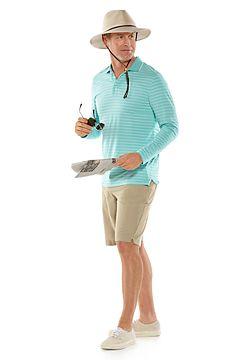 Coppitt Long Sleeve Weekend Polo & Trek Hybrid Shorts Outfit